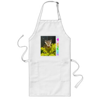 Yellow flower and Chipmunk (1) Long Apron