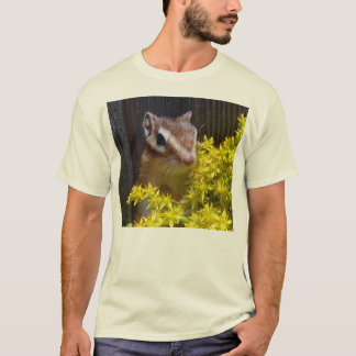 Yellow flower and Chipmunk (1) T-Shirt