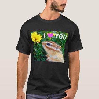 Yellow flower and Chipmunk (2) T-Shirt