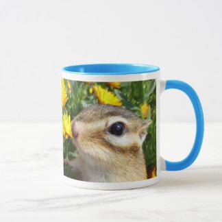 Yellow flower and Chipmunk (3) Mug