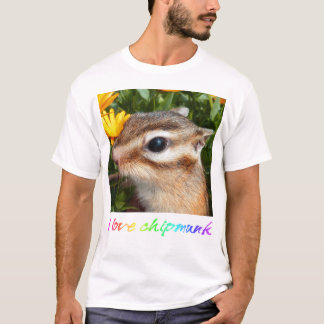 Yellow flower and Chipmunk (3) T-Shirt