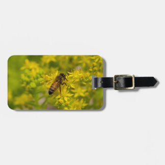 Yellow Flower and Honey Bee Maleny 2016 Bag Tag