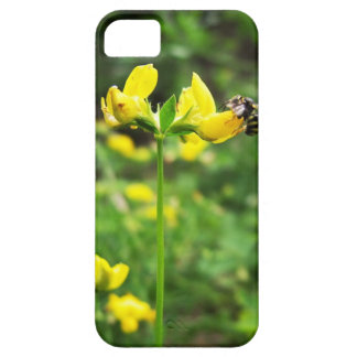 Yellow Flower and Wasp close up macro shoot photo iPhone 5 Covers