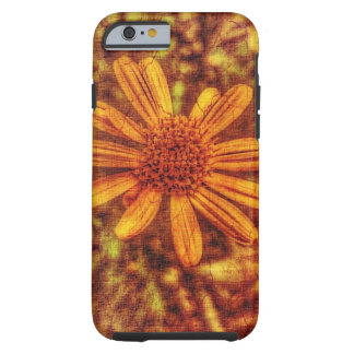 Yellow Flower Antiqued Photo Tough iPhone 6 Case
