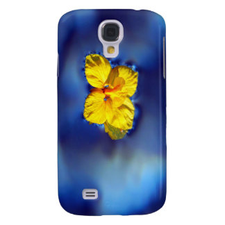 Yellow flower atop blue waters galaxy s4 cover