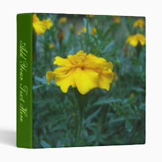 Yellow Flower Binder w/Your Text