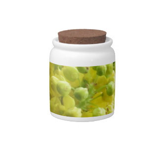 Yellow Flower Buds Candy Dish