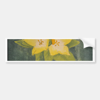 Yellow flower bumper sticker