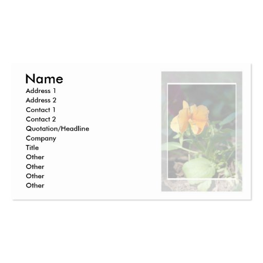 Yellow Flower Business Card Small Format