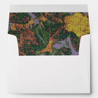 Yellow flower camouflage pattern envelope