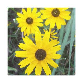 Yellow Flower Canvas Decoration