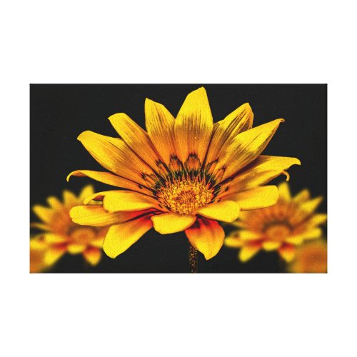 Yellow Flower Canvas Print - floral wall art