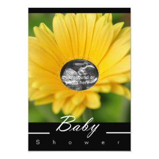 "Yellow ""Flower Child"" Baby Shower Invitation"