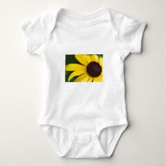 Yellow Flower Close-Up Baby Bodysuit
