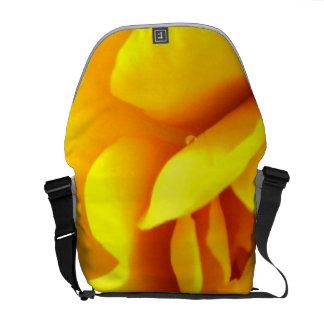 Yellow Flower Close up Messenger Bag