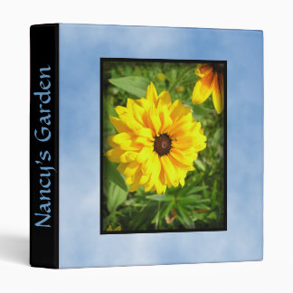 Yellow Flower Clouds Personal Three Ring Binder