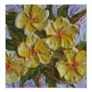 Yellow Flower Cluster Fine Art Poster