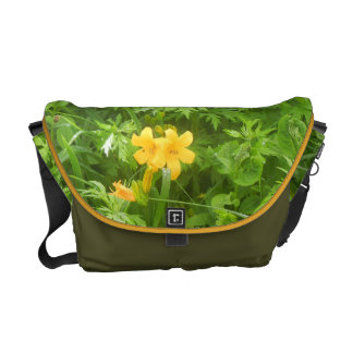Yellow flower courier bags