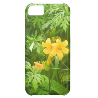 Yellow flower cover for iPhone 5C