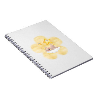 Yellow Flower Creamy Cub Journal Notebook
