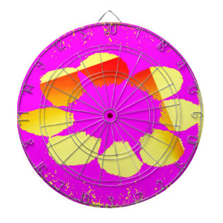 yellow flower dartboards