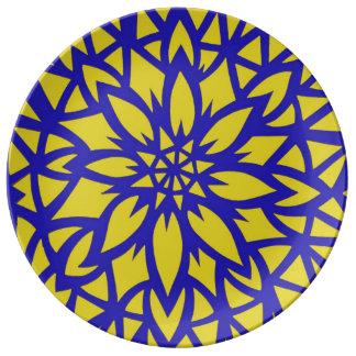 Yellow flower decorative plate