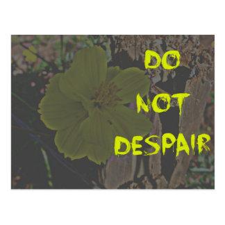Yellow flower do not despair postcard