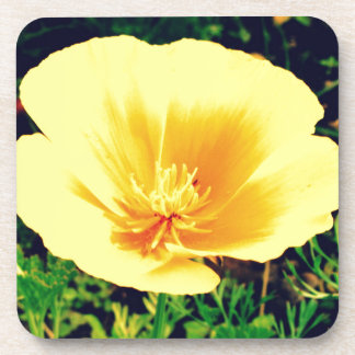 Yellow flower drink coaster