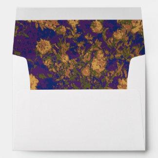 Yellow flower envelope