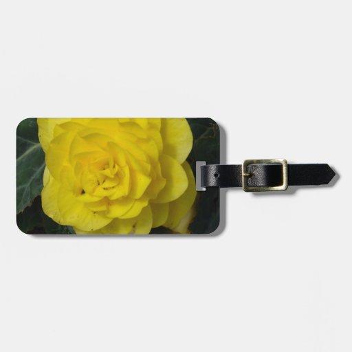 Yellow Flower Etiquetas Maleta