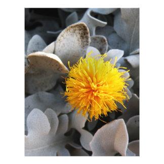 Yellow flower flyer