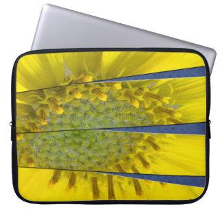Yellow Flower Four Panel Design Laptop Sleeve