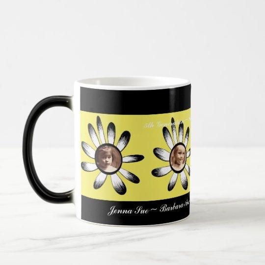 Yellow Flower Frames Magic Mug