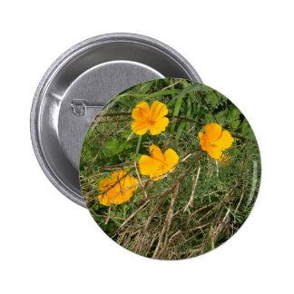 Yellow Flower Garden Pinback Buttons