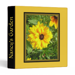 Yellow Flower Garden Personal Three Ring Binder