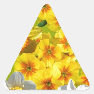 Yellow Flower Graphic Triangle Sticker