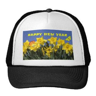 yellow flower trucker hat