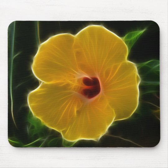 Yellow Flower Hibicus Mouse Pad