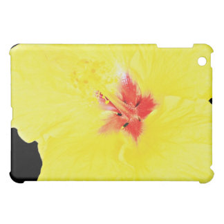 Yellow flower hybrid hibiscus flowers iPad mini cover