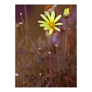 "Yellow flower 6.5"" x 8.75"" invitation card"