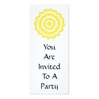 Yellow flower. 4x9.25 paper invitation card