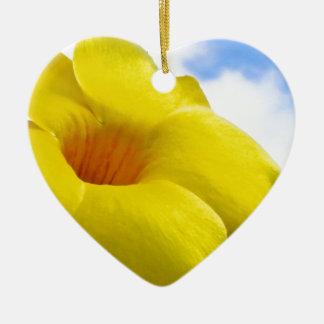 Yellow Flower.jpg Ceramic Ornament