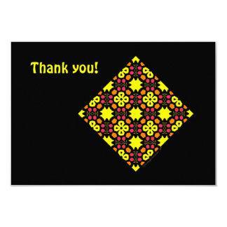 Yellow Flower Kaleidoscope Pattern Abstract Art Announcements