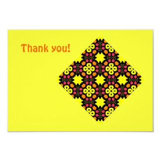 Yellow Flower Kaleidoscope Pattern Abstract Art Personalized Invite