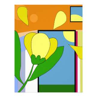 Yellow flower letterhead
