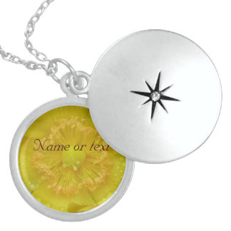 Yellow Flower Locket Necklace
