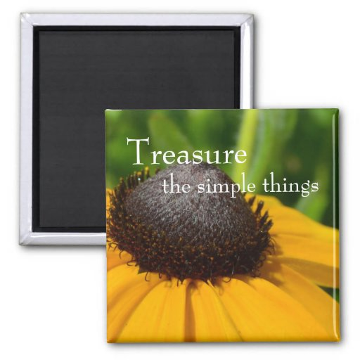 Yellow Flower Macro 2 Inch Square Magnet