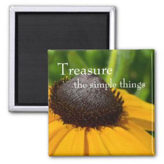 Yellow Flower Macro Magnet