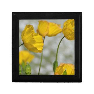 Yellow flower magic keepsake box