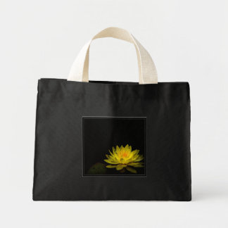 Yellow flower mini tote bag